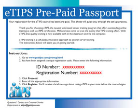 Purchase TIPS Pre Paid Passports Online